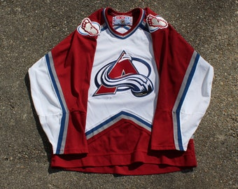 Avalanche Custom Personalized Name /& Number Adult Jersey Hooded Sweatshirt