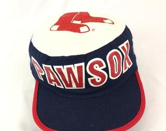 fe2e2de4318 RARE 1980s Vintage Pawtucket Red Sox Paw Sox Painters Cap  OSFA