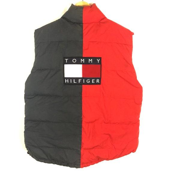 Vintage 90's Tommy Hilfiger Flag Reversible Jacket Size