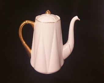 Shelley 5 Cup Coffee/Teapot England Regency Gold English Bone China
