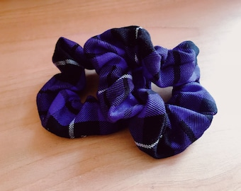 Purple Tartan Scrunchie