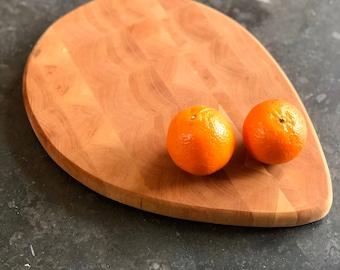 Teardrop End-Grain Cutting board- Cherry and Maple
