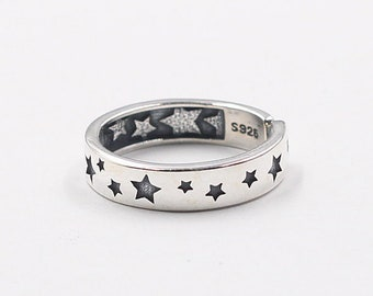925 Sterling Silver Stars Rings For Bridesmaids Jewelry Party Gift Solid Silver Ring YC3059R