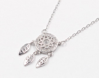 925 Sterling Silver Dream Catcher Necklaces For Bridesmaids Jewelry Party Gift Solid Silver Necklaces YC0077N