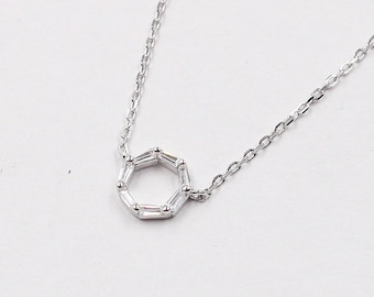 925 Sterling Silver Circle Necklaces For Bridesmaids Jewelry Party Gift Solid Silver Necklaces YC0046N