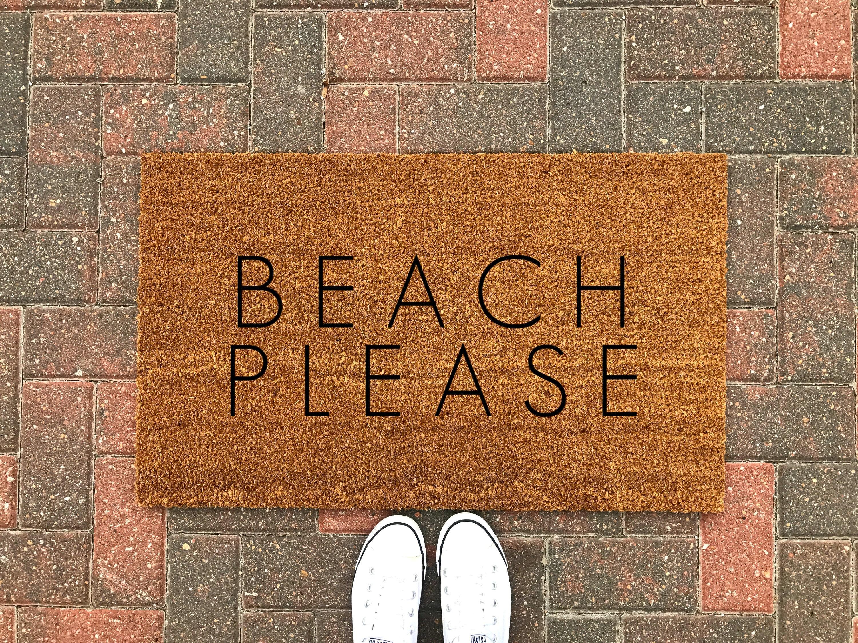 Charmant Beach Please Doormat / Beach Doormat / Funny Doormat / Welcome | Etsy