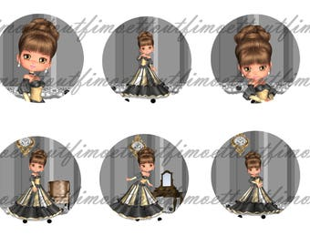 36Image digital cabochon Princess vicky (send by mail)