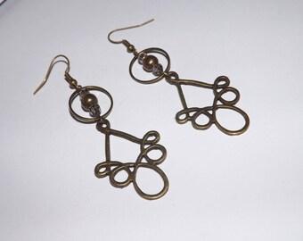 designer jewelry, earring, Crystal bead, arabesque