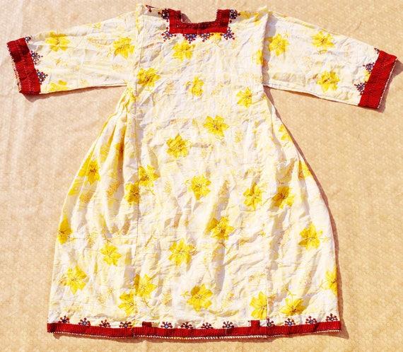 Old Vintage Banjara Afghani Pakistan Kuchi Balochi Nomad Hippie Colourful Balochi Ethnic Hand Embroidery Traditional Cultural Tunic Dress