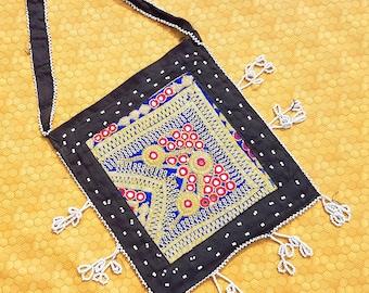 Antique /Old/Bag/Tribal Clutch/Handmade/Boho Bag/Beaded/Embroidered/Mirror/Work/Gypsy/Banjara/Clutch/Blue/Pouch/Bohemian Clutch Shoulder bag