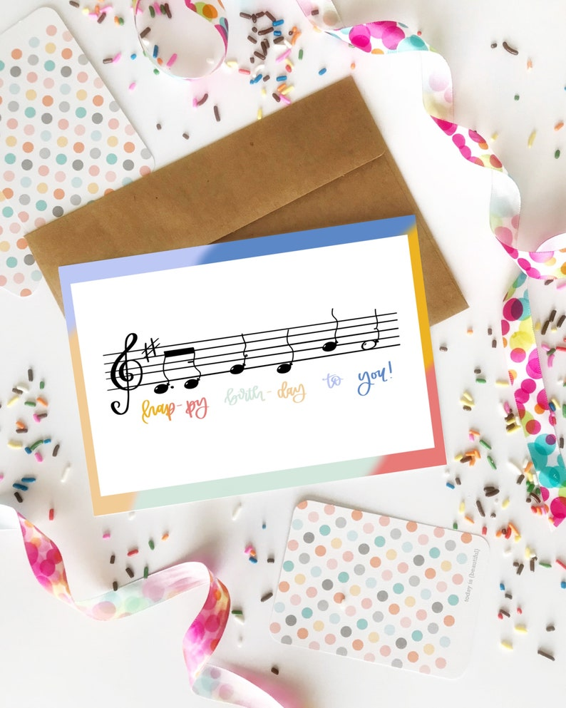 Happy Birthday To You Music Card A2 4 1 X 5 2