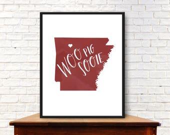 Woo Pig Sooie - Arkansas Digital Print