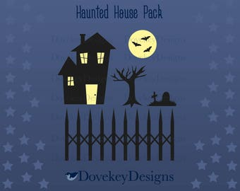 Haunted House Pack for Cricut/Silhouette (svg)