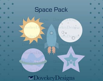 Space Pack for Cricut/Silhouette (svg)
