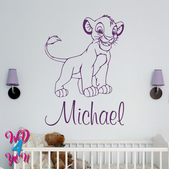 Simba Personalized Wall Decal Lion King Wall Decals Disney | Etsy