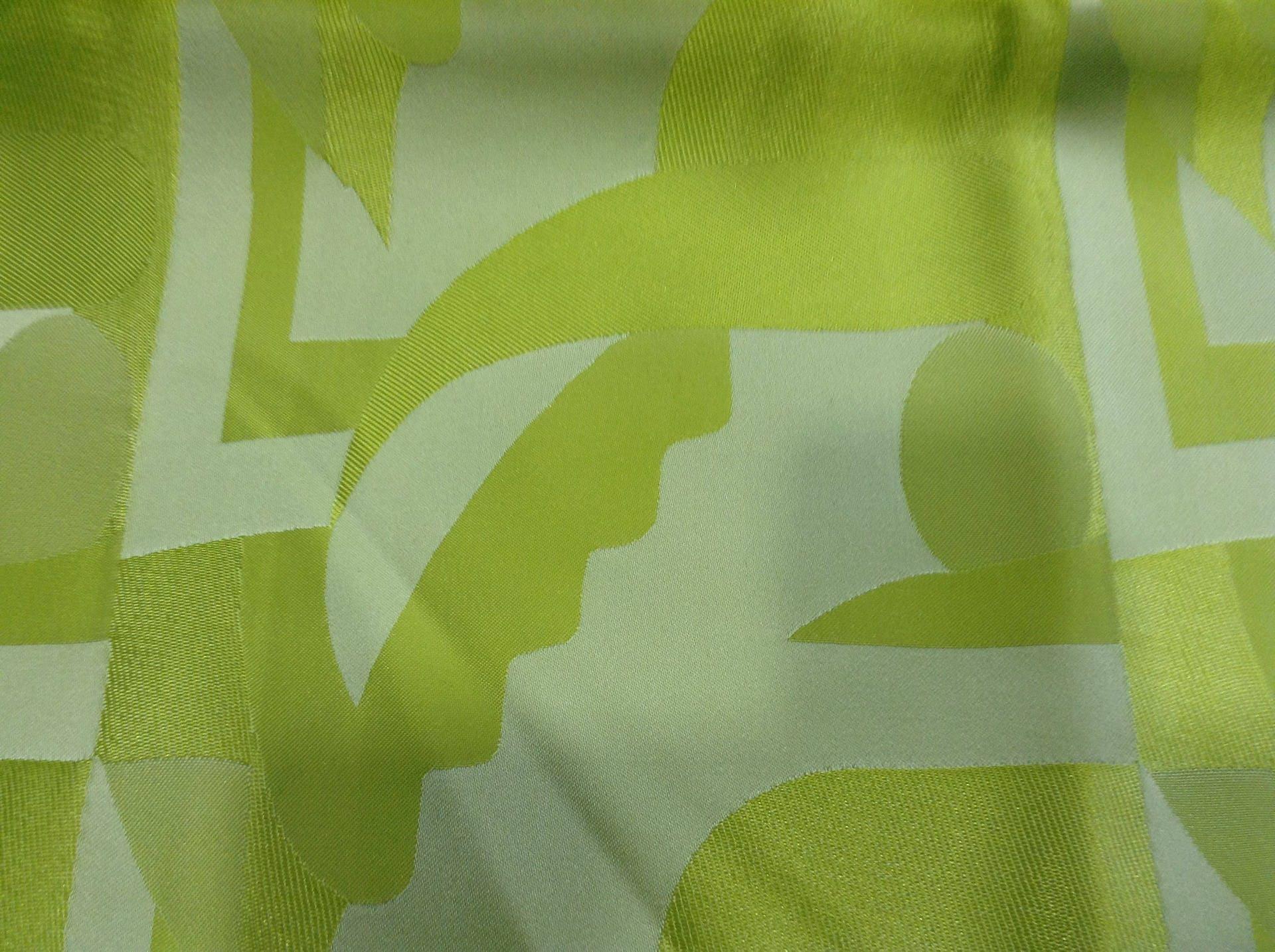 Lime Green Taffeta Coupon Neon Green Geometric Patterns Etsy