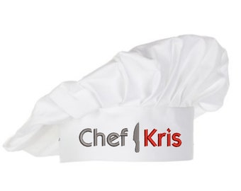 Personalized Chef Hat   Gifts for Home Chef   Custom Name Embroidery   Authentic Accessory, Chef Costume   Child Kitchen Helper Cooking Gift