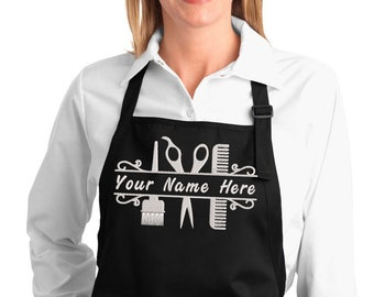 Personalized Hairdresser Apron, Gifts for Your Stylist, Custom Name Embroidery, Stylish & Comfortable Salon Uniform, Cosmetology School Gift