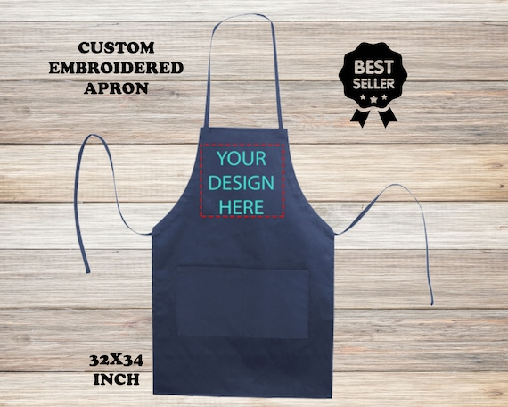 Chef Hat with Name Grill Barbeque Grilling Apron