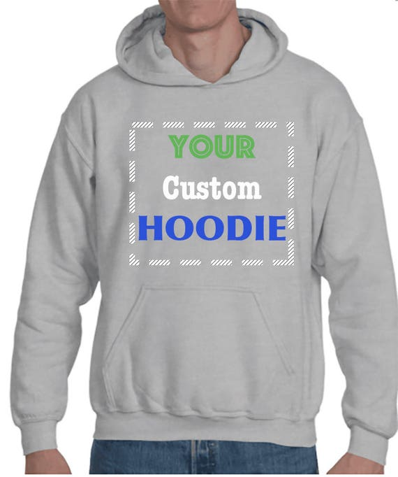 CUSTOM PERSONALISED DESIGN YOUR OWN HOODIE STAG HEN HOLIDAY MENS Hoodies