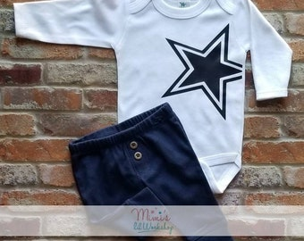 Dallas Cowboys Girls Dress Outfit Long Sleeve w//pants Ruffles Christmas Gift!!