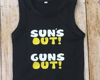 promo code d7f81 10202 Suns Out Guns Out Baby Boy Summer Bodysuit One Piece Tank For Boys Tank Top  Onesie For Boys Summer Tank One Piece