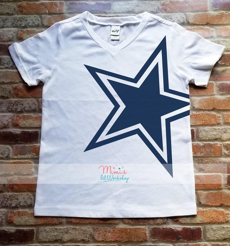timeless design cd616 cd92f Dallas Cowboy Jersey Shirt Girls Dallas Cowboy Star Cowboys Football Game  Day Shirt For Girls Cowboys Fan