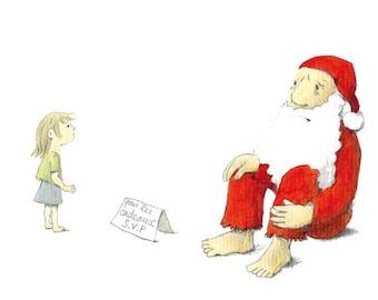 Santa Claus humor, postcard, gift