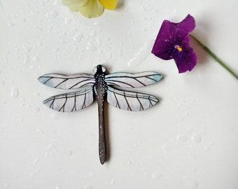 Dragonfly Brooch Blue Tones