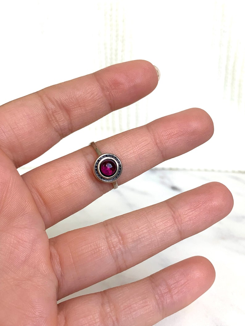 boho silver ring band,gipsy ring red stone ring vintage silver ring 925 Sterling silver stackable ring