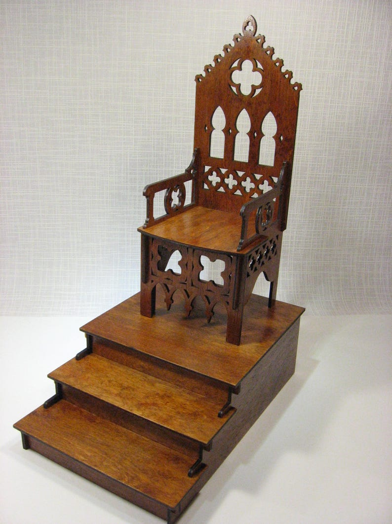 Bjd Throne Chair Gothic Furniture For Dolls 1 4 Scale Etsy