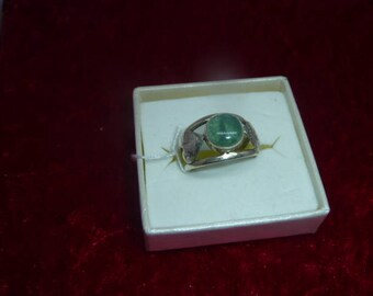 Ring genuine gemstone - APATITE
