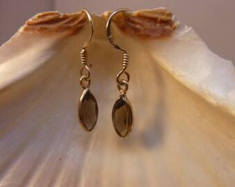 Genuine SMOKY QUARTZ earrings