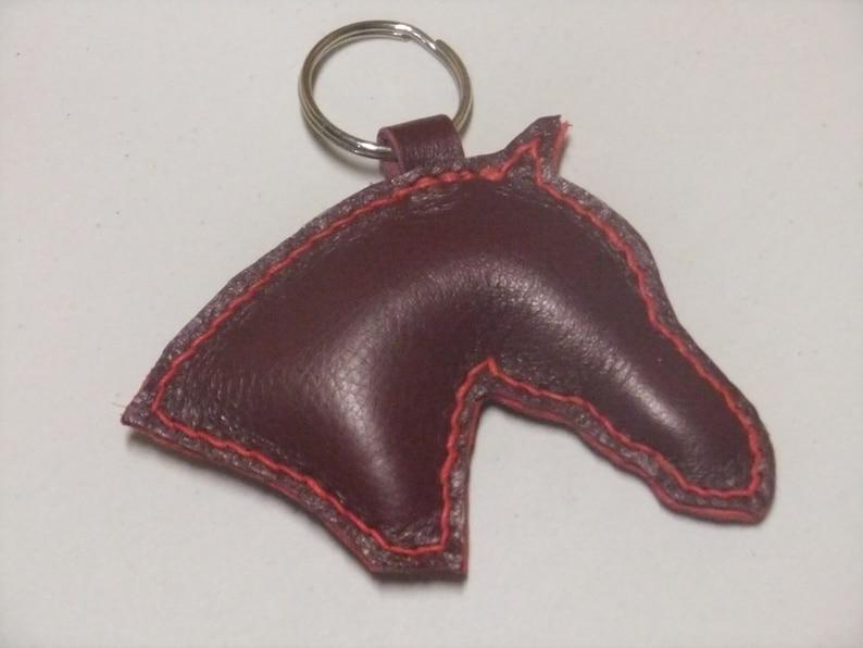 Leather horse head Keyring  bf43dbd52f50