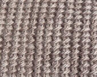 adult snood neck Tunisian crochet