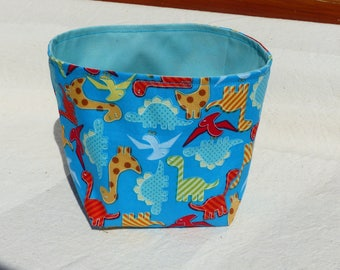Hamper basket pattern dinosaurs