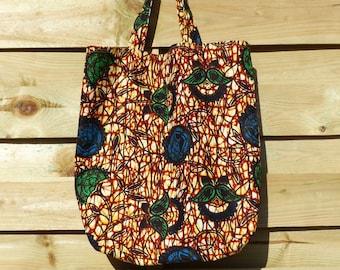 African fabric colorful multipurpose bag tote bag