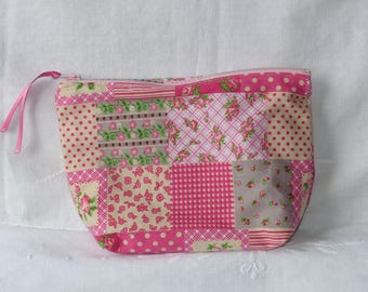 Pink patchwork design fabric package