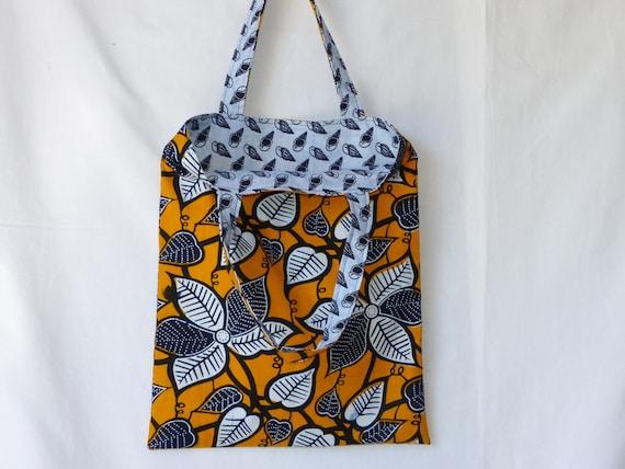 Africain Tote Bag En Tissu Sac Wax Réversible 6gb7Yyf