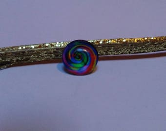 6 cabochons 12 mm multicolored glass