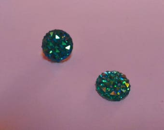 Turquoise 12 mm resin cabochon
