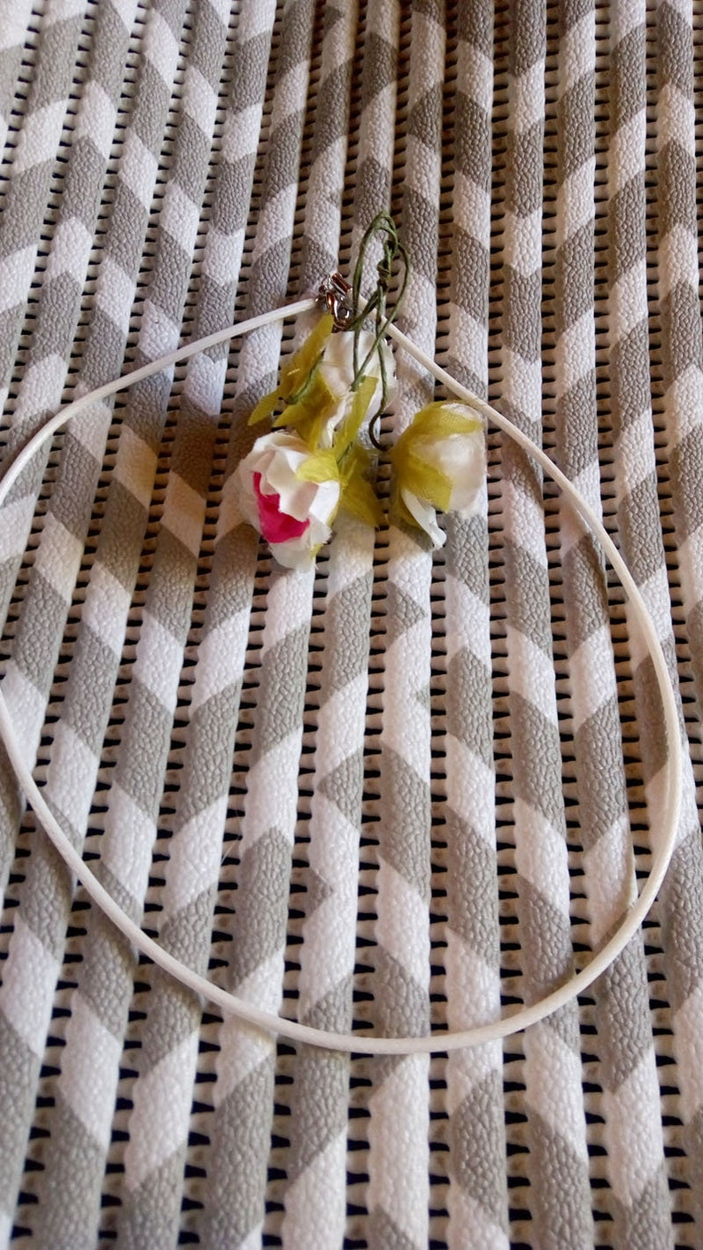 White 2mm cord 5 necklaces