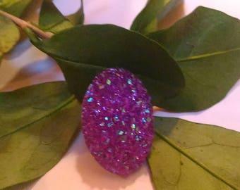 Purple oval cabochon 18 x 25