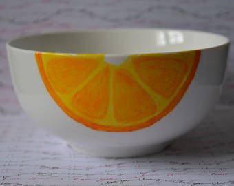 Bowl 3 hand painted citrus