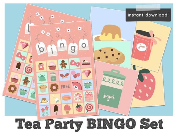 image relating to Free Printable Tea Party Games identify Tea Get together Bingo video games, tea season birthday bridal shower bash game titles printable, prompt down load