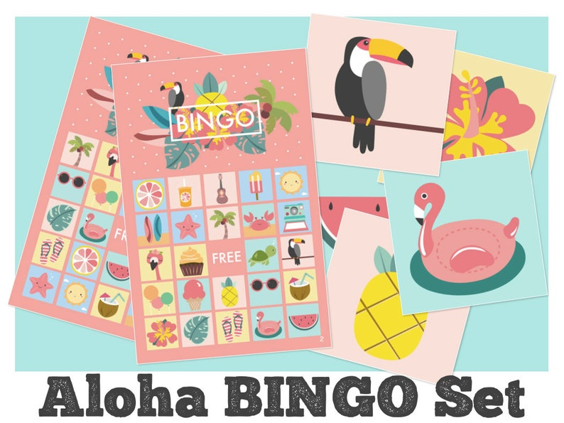 photograph relating to Printable Luau Party Games referred to as aloha bingo, aloha hawaii luau printable, aloha occasion online games, summer months social gathering, instantaneous down load
