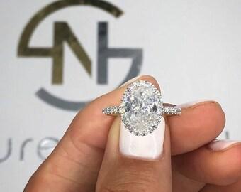 2 Carat Diamond Enement Rings | 2 Carat Diamond Ring Etsy