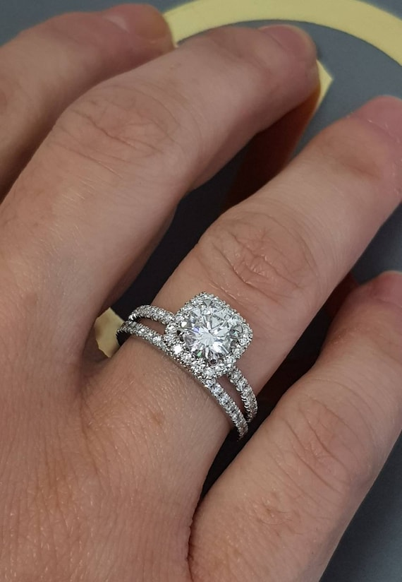 Diamond Engagement Ring Setting 2 Carat Diamond Engagement Etsy