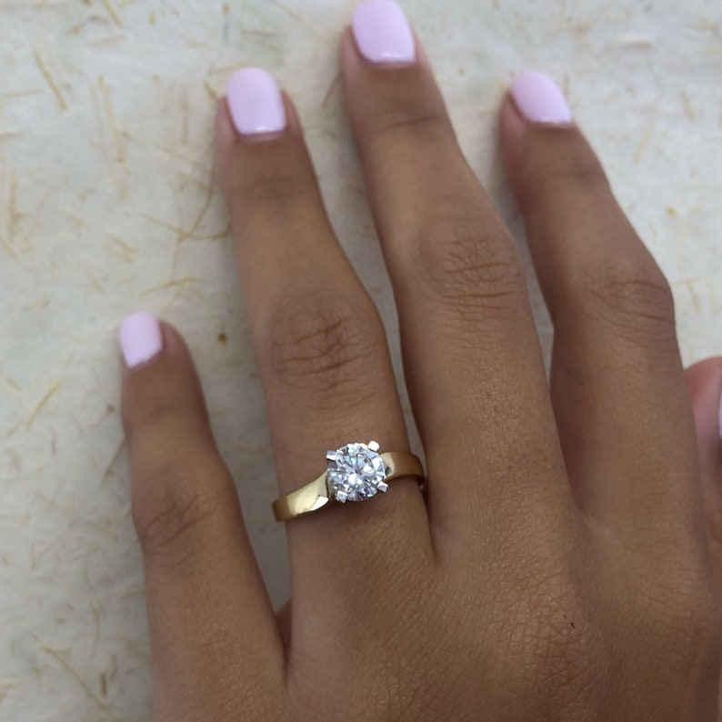 8707a96ba7d 1 Carat Solitaire Diamond Ring Solitaire Ring Round Diamond