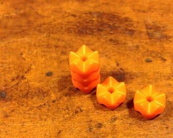 Plastic Orange bead